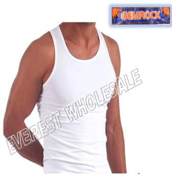 Gemrock A-shirt * Size : L White * 6 pcs