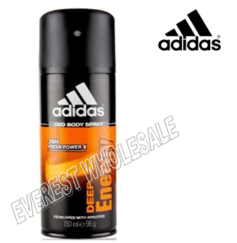 Adidas Body Spray For Men 150 ml * Deep Energy * 6 pcs