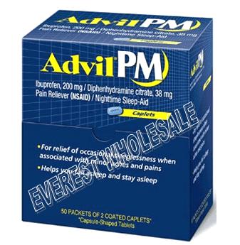 Advil Pm Tablet Pouch 50 x 2`s / Box