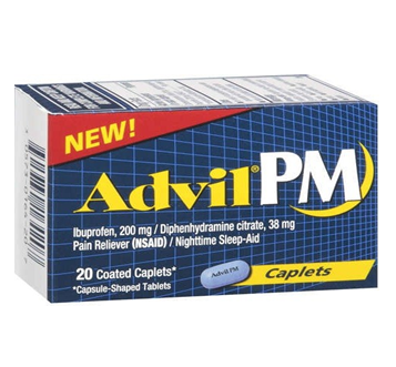 Advil PM Caplets 20 ct / Box * 6 Boxes
