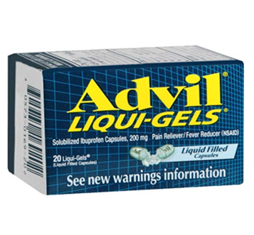 Advil Iiqui Gels 20 Liqui Gels / Box * 6 Boxes
