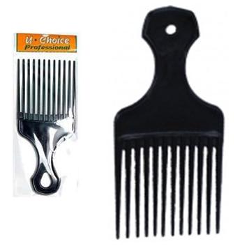 Afro Pick Plastic Comb * 12 pcs