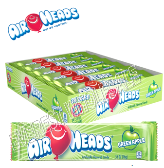 Airheads Singles 0.55 oz 36 ct * Green Apple *