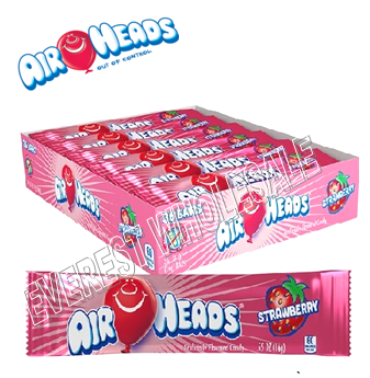 Airheads Singles 0.55 oz 36 ct * Strawberry *