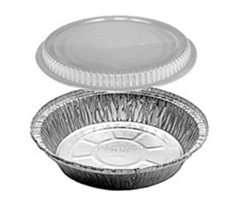 Aluminum Food Container**9 inch**with Dome Lid Combo 500 pcs