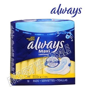 Always Maxi 18 ct * Regular * 12 pcs