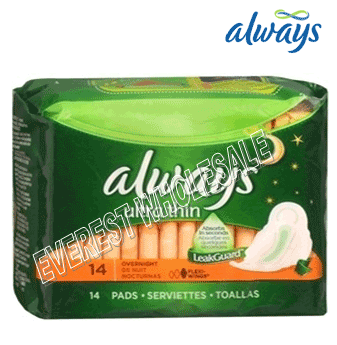 Always Ultra Thin * Overnight 14 ct * 12 pcs