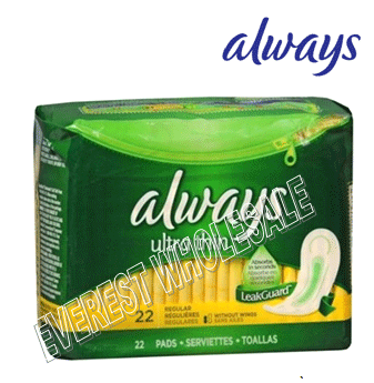 Always Ultra Thin 22 ct * Regular * 12 pcs
