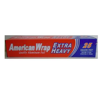 American Wrap Aluminum Foil 25 SQ FT * 50 pcs / Case