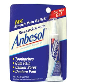 Anbesol Gel Mouth Pain Relief 0.25 fl oz * 6 pcs