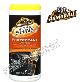 Armor All Wipes 25 ct * Ultra Shine Protectant * 6 pcs