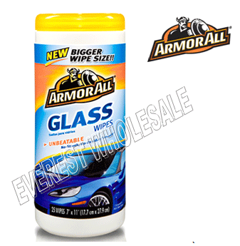 Armor All Wipes 25 ct * Glass * 6 pcs