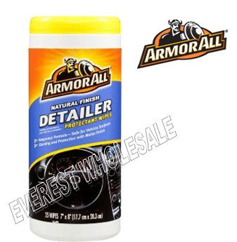 Armor All Wipes 25 ct * Natural Finish Detailer * 6 pcs