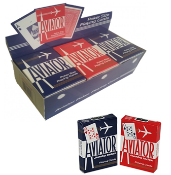 Aviator Playing Cards Assorted Colors * 12 pcs