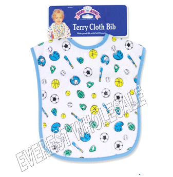 Baby Bib Pull Over Waterproof * Terry Cloth * 6 Pcs