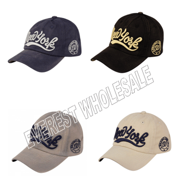 Baseball Cap Vintage Cotton With New York Logo * 6 pcs