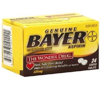 Bayer Aspirin 24 Tablets / Box * 6 Boxes