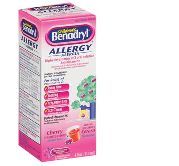 Benadryl Allergy For Children 4 fl oz / Box * 6 Boxes