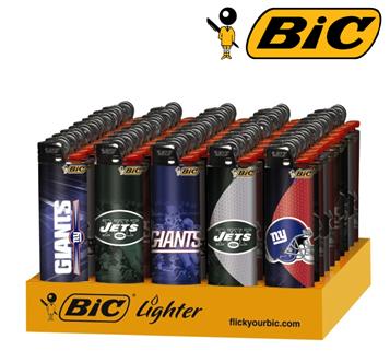 Bic Disposable Lighter * Giant-Jets Logo * 50 ct