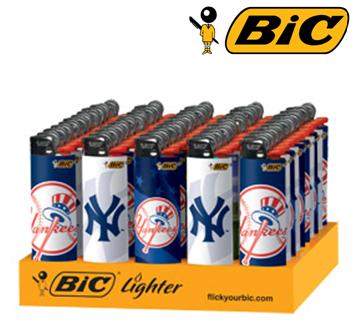 Bic Disposable Lighter * Yankee Logo * 50 ct