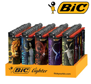 Bic Disposable Lighter * Zodiac * 50 ct