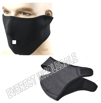 Black Ski mask Half Size * 12 pcs