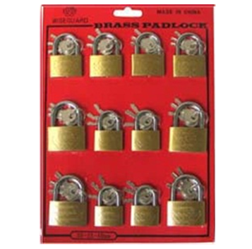 Brass Padlock 30-35-40 mm Assorted Display 12 pcs