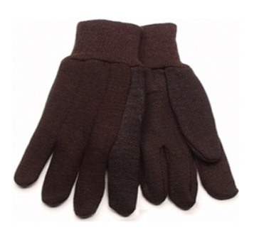 Working Glove Brown Jersey * 12 pcs