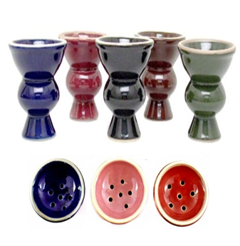 Ceramic Hookah Bowl * Assorted Colors * 6 pcs