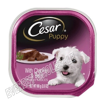 Cesar Dog Foods * Chicken With Beef 3.5 oz * 24 pcs