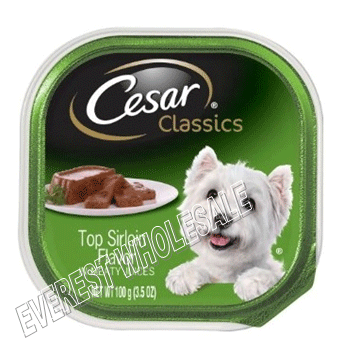 Cesar Dog Foods * Top Sirlon Flavor 3.5 oz * 24 pcs