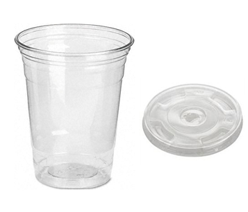 Clear Cold Drink Cup 16 Fl Oz With Lid Combo * 1000 ct