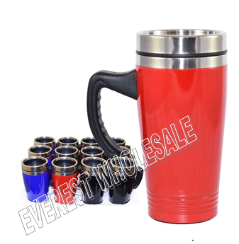 Insulated Metal Coffee Mug 16 oz * Assorted Colors * 6 pcs