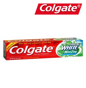 Colgate Sparkling White Mint Zing 8 oz * 12 pcs