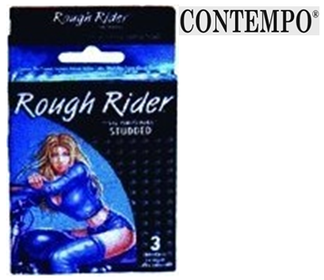 Contempo Condom * Rough Rider Studded * 3 in Pack*6 pks