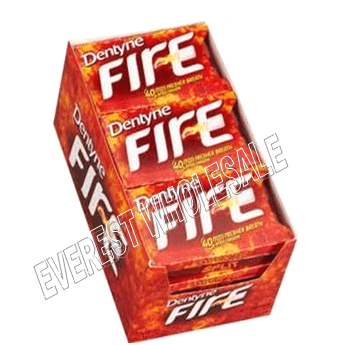 Dentyne Fire * Spicy Cinnamon * 9 pks / Box