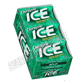 Dentyne Ice Gum * Spearmint * 9 pks / Box