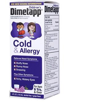 Dimetapp Cold & Allergy *Ages 6+* 4 fl oz / Box * 6 Boxes