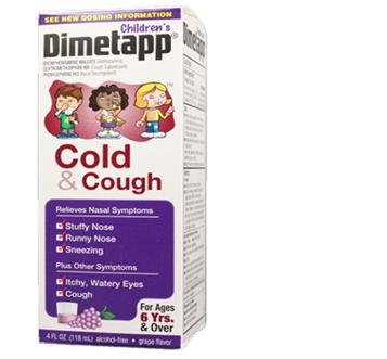 Dimetapp Cold & Cough Ages 6+ 4 fl oz / Box * 6 Boxes