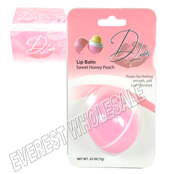 Dlish Lip Balm 0.25 oz * Sweet Honey Peach * 6 pcs