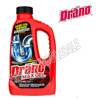 Drano Drain Cleaner 32 fl oz * Maxi Gel * 12 pcs
