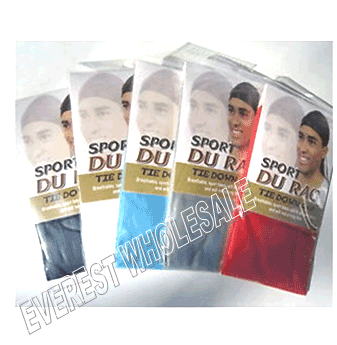 Durag Sport Tie Down Cap * Assorted * 12 pcs