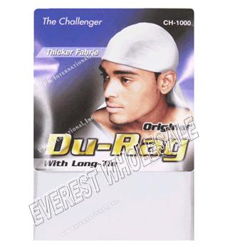 Durag Sport Tie Down Cap * White * 12 pcs