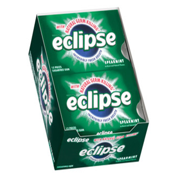Eclipse Gum * Spearmint * 12 pks / Box