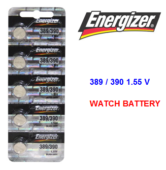Energizer Watch Battery 389/390 1.55 V * 5 pcs / pack