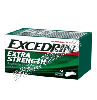 Excedrin Extra Strength 24 Caplets / Box * 6 Boxes