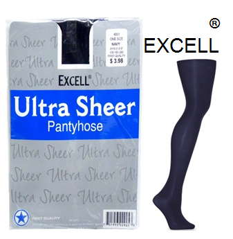Excell Panty Hose One Size Navy * 12 pcs / pack