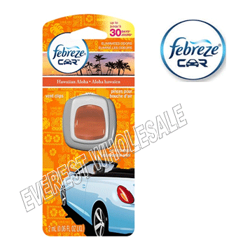 Febreze Car Vent Clip * Hawaiian Aloha * 2 ml / 4 pcs