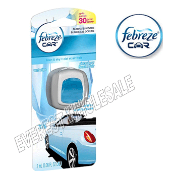 Febreze Car Vent Clip * Linen & Sky * 2 ml / 4 pcs
