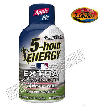 Five Hour Energy Drink Extra Strength* Apple Pie * 12 count